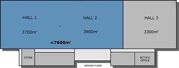 Hall 1 plus Hall 2