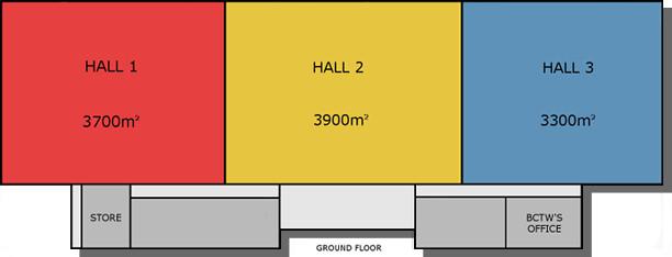 3 halls
